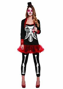 Womens-Day-Of-The-Dead-Ladies-Costume-Mexican-Halloween-Senorita-Fancy-Dress