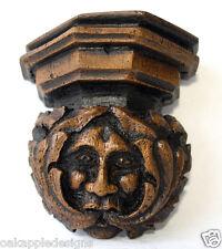 Verde Hombre Corbel Medieval reproducción Tallado English Heritage Hecho A Mano Regalo