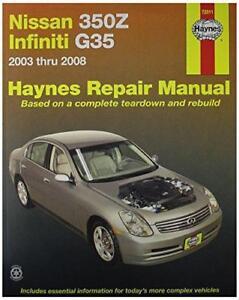 haynes automotive repair manual for nissan 350z and infiniti g35 rh ebay com infiniti g35 owners manual 2008 infiniti g35 owners manual 2007