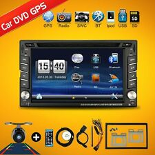 "AUTORADIO 6.2"" Double 2 DIN Car GPS DVD Player Bluetooth SAT DVD NAV MIT Mirror"