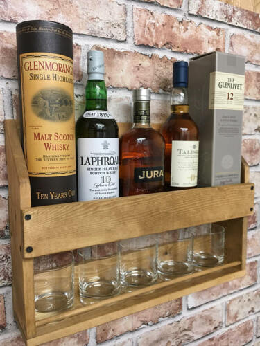 Husband Gift, Dad Gift Whisky Rack whisky Gift Gift for him Drinks Rack