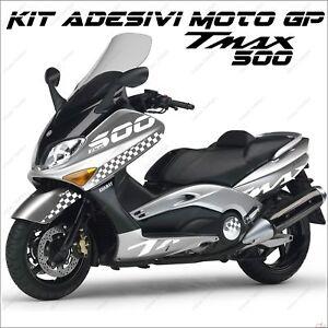 AdhÉsifs Sport CarÉnage Graphique Compatible Yamaha Tmax T Max 500 01/07 Bianco
