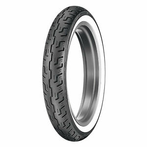 Dunlop-100-90-19-57H-D401-Front-Motorcycle-Tire-Wide-White-Wall-for