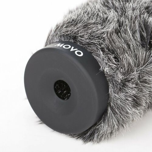 """Movo WS-G140 Furry Rigid Windscreen for Mics 18-23mm in Diameter and up to 6.3/"""""""
