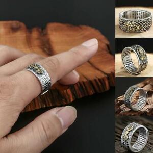 Charms-Ring-Feng-Shui-Amulett-Glueck-Reichtum-buddhistischer-Schmuck-einste-Heiss
