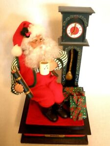 Relaxing Christmas Music.Details About Vintage Holiday Creations Santa Relaxing W Cocoa Christmas Music Light Batteries