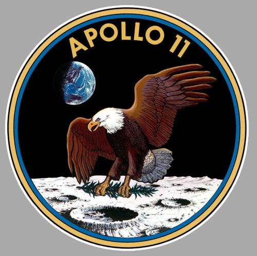 APOLLO 11 NASA SATURN 5 LEM ESPACE LUNE 9cm AUTOCOLLANT STICKER AA080