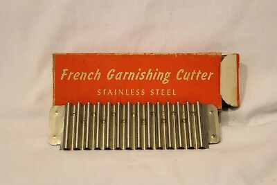 Vintage French Garnishing Cutter Stainless Steel with orig Box