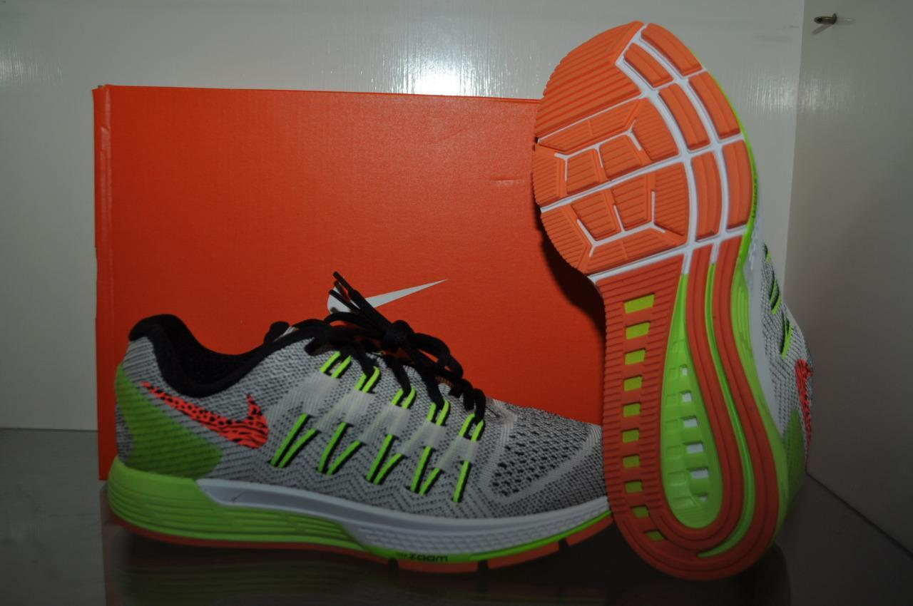 Nike Air Zoom Odyssey Womens Running shoes White Black-Volt-Hyper orange NIB