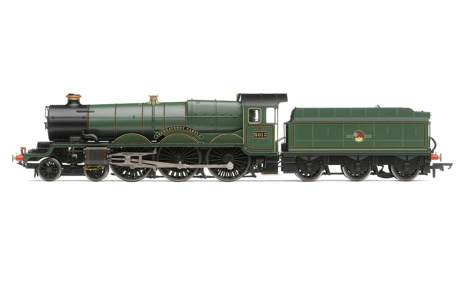 Hornby R3619 BR Late Castle classe Abergavenny Castle No.5013 DCC Ready nuovo