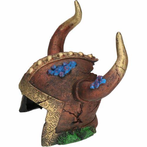 Decoración Acuario Acuático Peces Tanque Ornamento De Vikingo Casco Cueva 12x10x15