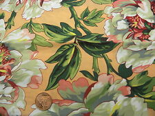 Fat Quarter Kaffe Fassett Tree Peony Peach - Rowan Cotton Quilting Fabrics