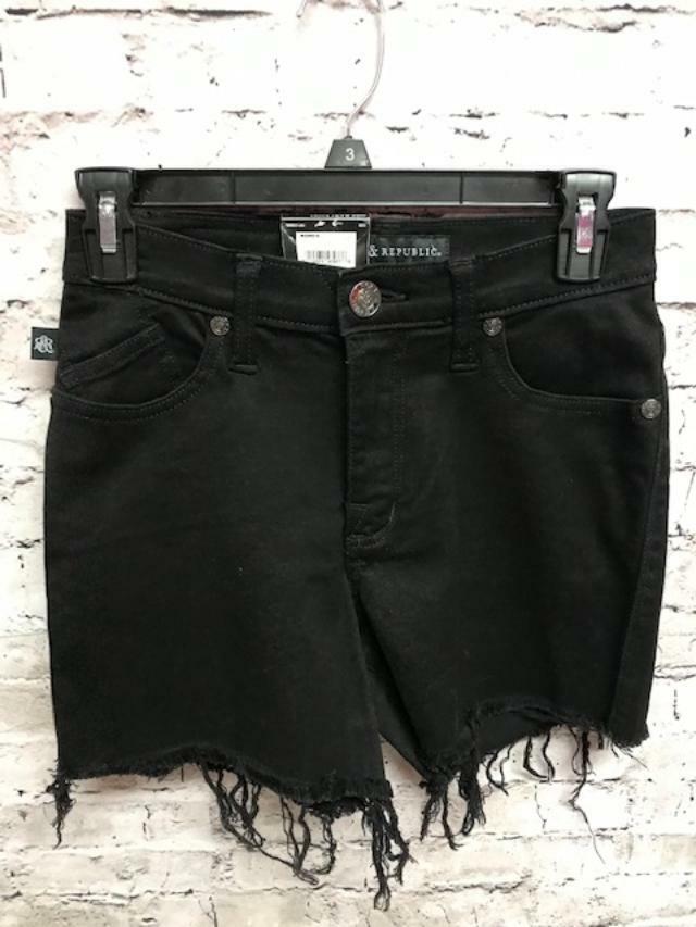 Rock /& Republic Women/'s Mid Rise Indigo Camo Jean cut Shorts NWT $54 Sz 16 or 12