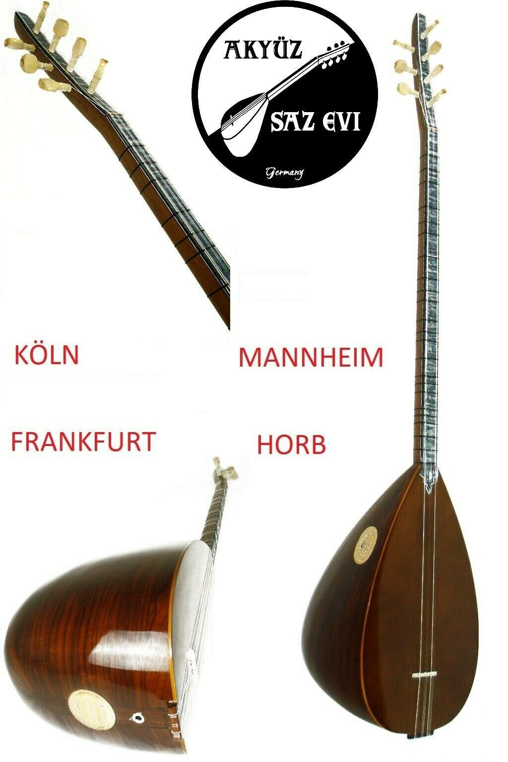 Gitarre Baglama//Saz Kelepce Capodaster  Kirvem Saz Evi