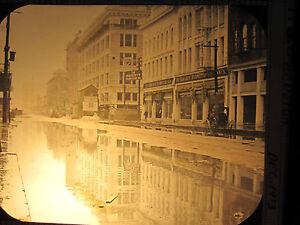 ANTIQUE-VICTORIAN-OR-EDWARDIAN-HOUSTON-TX-DOWNTOWN-OLD-MAGIC-LANTERN-SLIDE-PHOTO