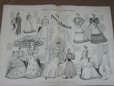 L' ART ET LA MODE - 1893 - No 11 - ILLUSTREE - THEATRE ODEON UNE PAGE D AMOUR