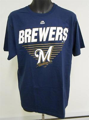 Neu Milwaukee Brewers Erwachsene Herren Large L Shirt Von Majestätisch 63nh Duftendes Aroma Fanartikel