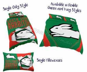 South Sydney Rabbitohs 2019 Nrl Quilt Cover Pillowcase All Sizes Available Ebay