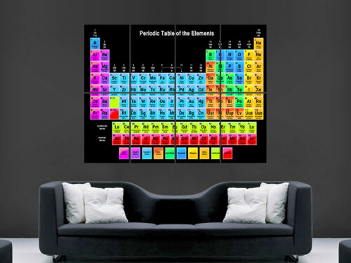 PERIODIC TABLE CHEMICAL ELEMENTS SCIENCE SCHOOL  ART WALL  POSTER  GIANT HUGE !