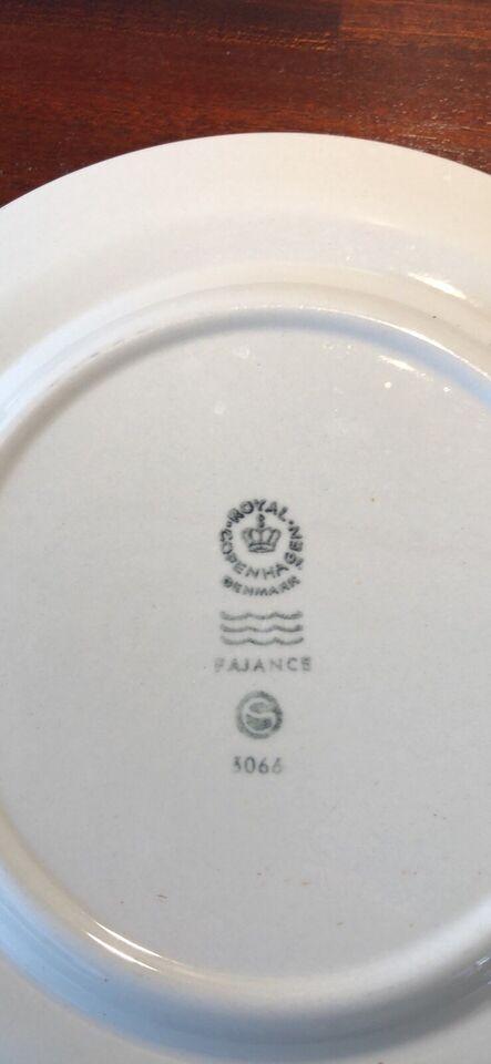 Fajance, Kagetallerken, Royal Copenhagen BlåKant