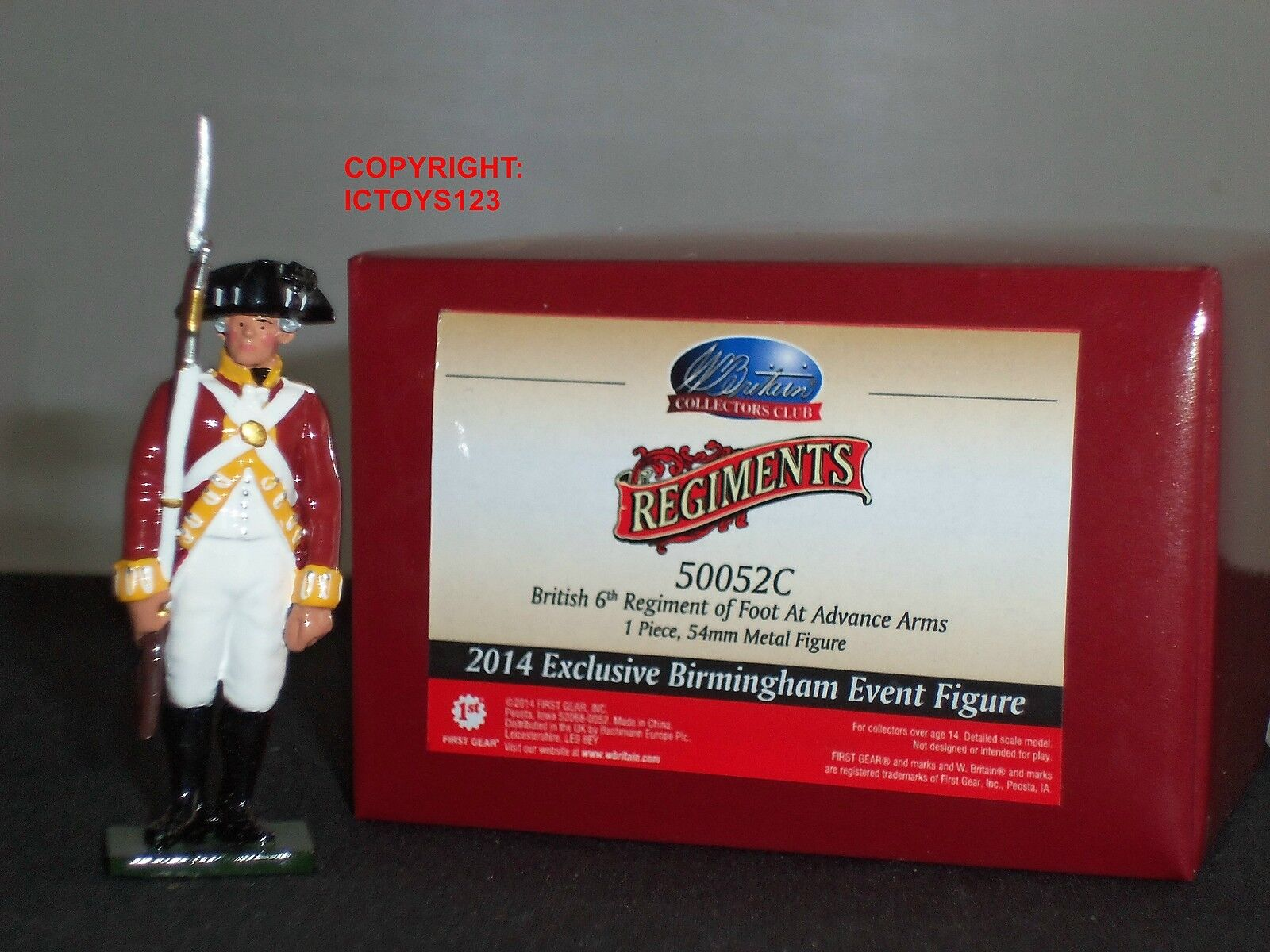 BRITAINS 50052C REDCOATS BRITISH 6TH REGIMENT 2014 BIRMINGHAM EVENT TOY SOLDIER