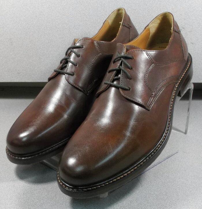 209801 MS50 Chaussures Hommes Taille 10.5 m marron en cuir à lacets Johnston & Murphy