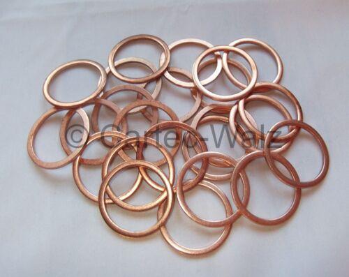 50 piezas de cobre anillos denso anillos juntas cu 28x34x2,0 mm din 7603 forma a