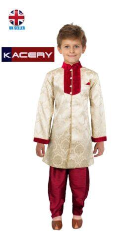 Kids Boys  Gold Indo Sherwani Kurta BS202