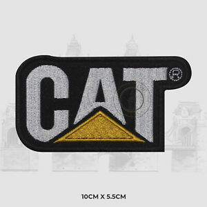 CAT LOGO Iron on Sew on Patch Embroidered Patch Badge For T-Shirt Bags etc