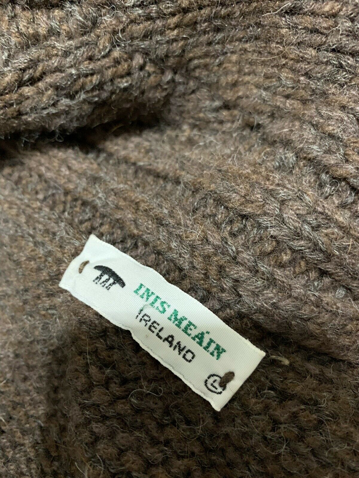 Inis Meain Wool Alpaca Cashmere Brown Knit Open F… - image 6