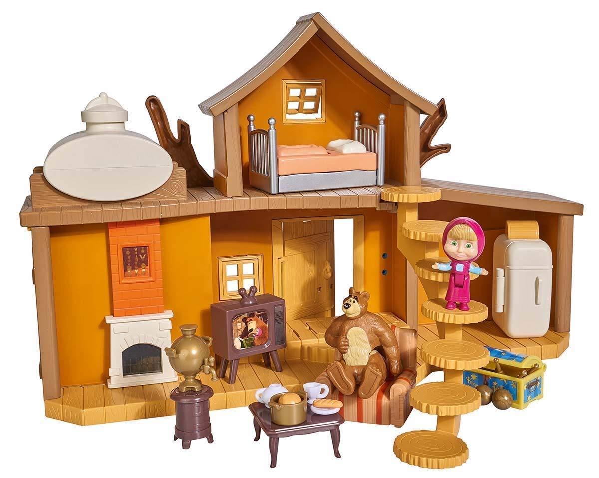 Simba Masha und die Bär Groß Haus Bär mit 2 Figuren und Zubehör Spielzeuge TV