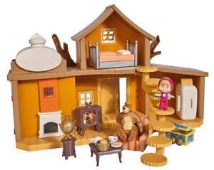 Simba Masha Et Le Ours Grande Maison Du Avec 2 Figurines Accessoires Jouets TV