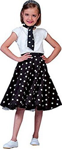 Details about  /50/'s Child Polka Dot Circle Skirt And Neck Scarf Quality Sock Hop Halloween M-L