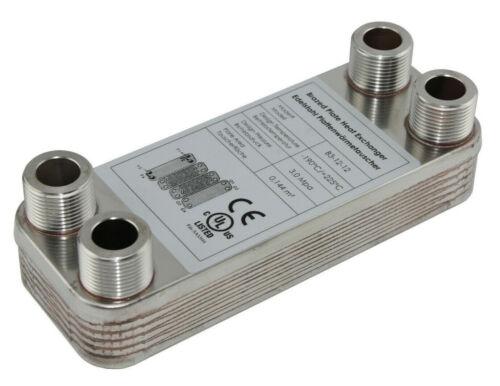 25kW Heizung Solar Plattenwärmetauscher B3-12-12 mit 4x3//4 Zoll Anschl