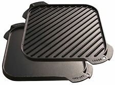 Lodge LSRG3 Cast Iron Single-Burner Reversible Grill/Griddle 10.5-inch 1