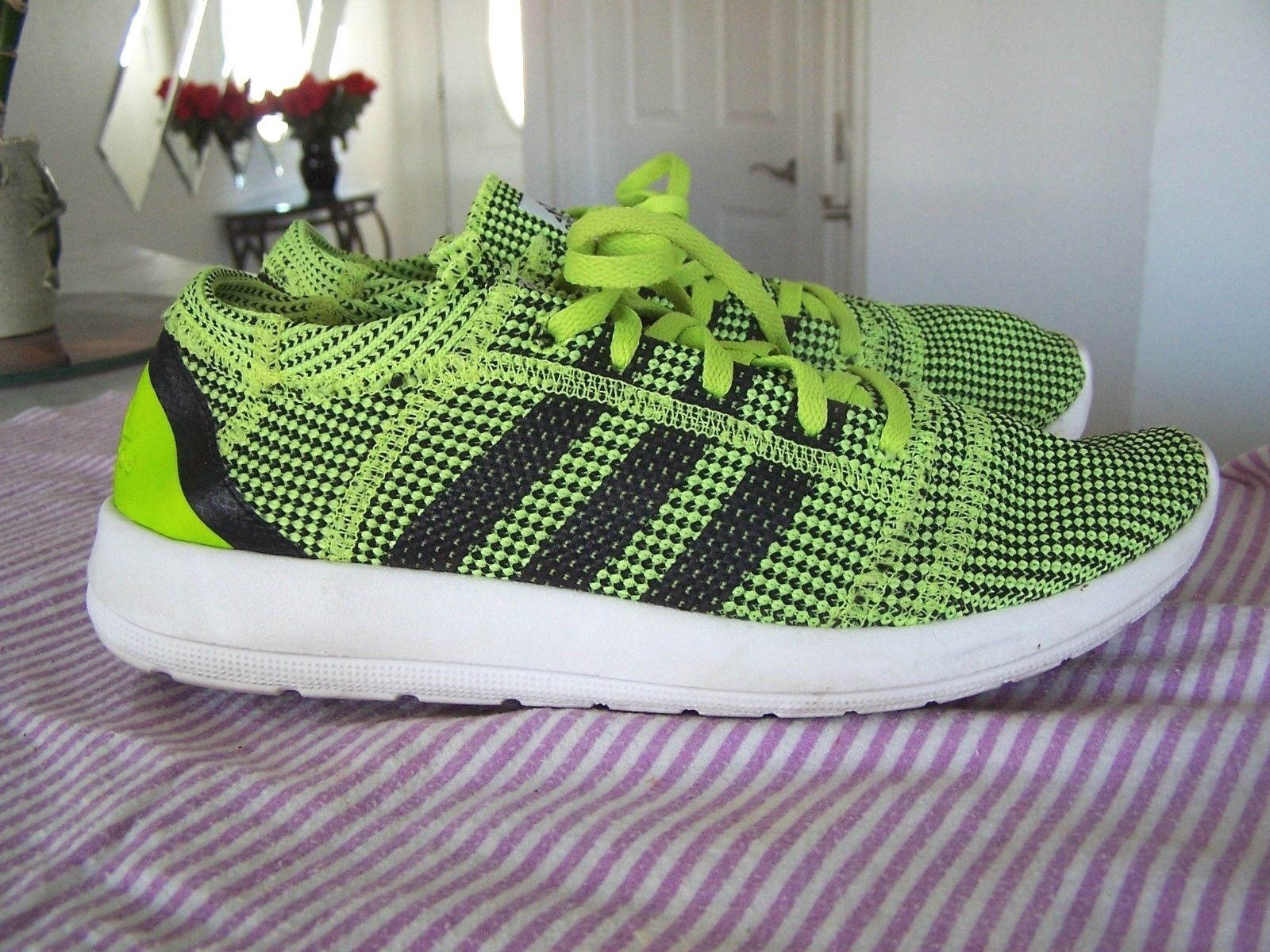 Adidas Element Refine Tricot Womens Lace Up Bright Green shoes Size 8 (2014)