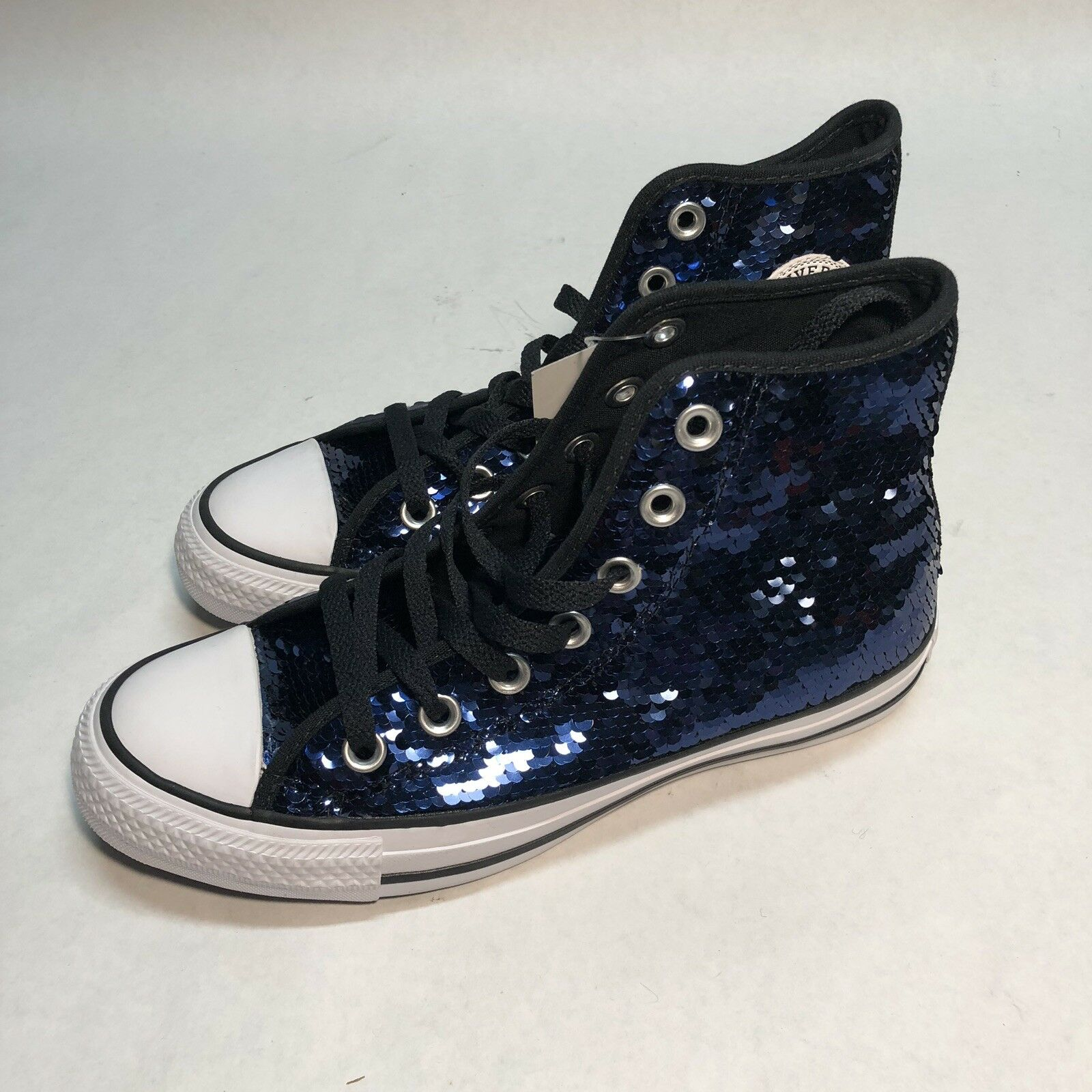 Converse All Star High Top Dark bluee Sequin Fashion Sneakers Sneakers Sneakers 557923C 4bcc84