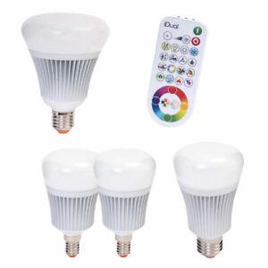 4-x-Muller-luce-led-RGB-gt-2-x-16w-e27-2-x-7w-e14-idual-telecomando-UVP-119