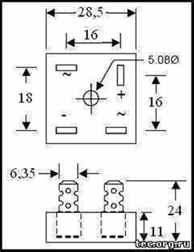 UNIVERSAL 6volt and 12volt Single Phase upgraded uk seller GS10134 RECTIFIER