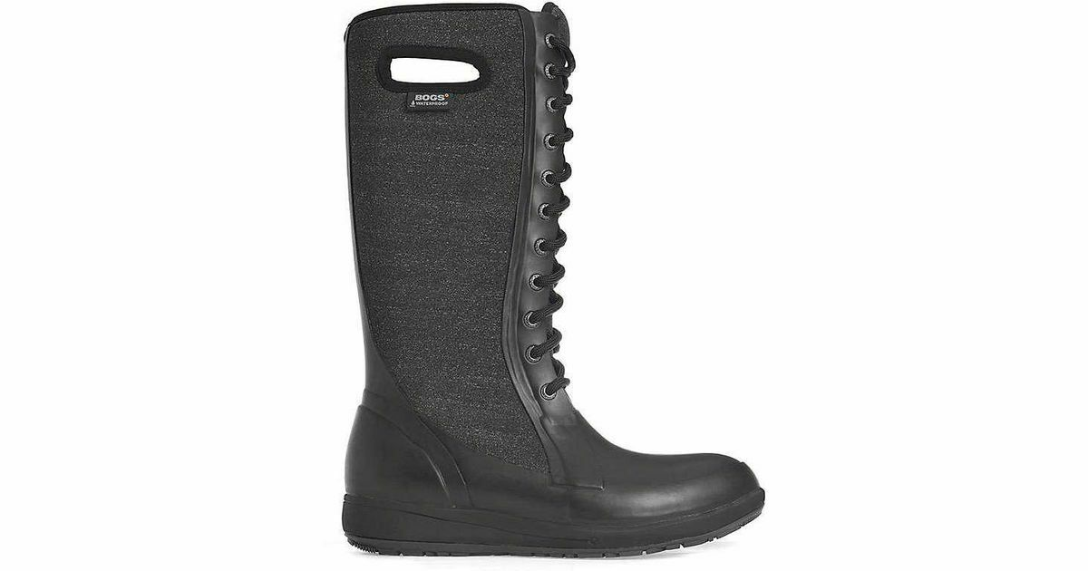 New  Bogs Cami Lace Tall Melange  boots 6 37  comfortably
