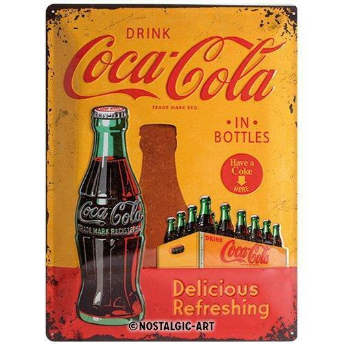 "Coca-Cola #5 Tin Sign Wall Plaque 12x16/"" Nostalgic-Art"