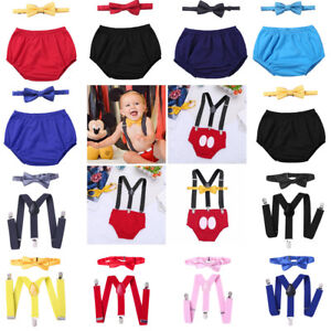 881c56d4c Image is loading Baby-Boys-1st-Birthday-Outfit-Cake-Smash-Suspenders-