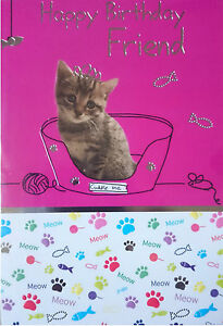 Image Is Loading Birthday Card For Your Beloved Pet Cat FREE