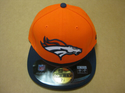 MENS NFL NEW ERA FITTED CAP DENVER BRONCOS ORANGE-NAVY New with Tags
