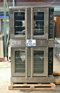 NEW-Commercial-Gas-Double-Stack-Convection-Oven-2-Deck-Restaurant-Kitchen-NSF