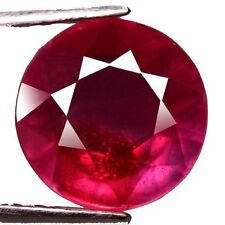 NATURAL WONDERFUL PINKISH RED RUBY LOOSE GEMSTONES (9.5 mm) LARGE ROUND SHAPE