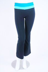 f3c68641b9434d $128 *LULULEMON ATHLETICA* Black Blue Stretch YOGA Color Block PANTS ...