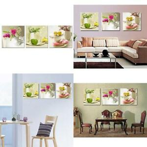 Details about [Framed] White Floral In Dining Room Canvas Wall Art Prints  Picture Home Decor