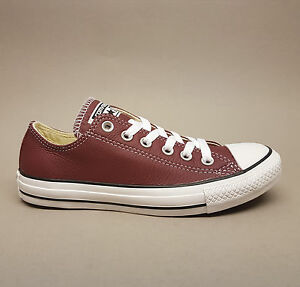 Details zu Converse All Star Chuck Ox Oxheart Leather 144668C Turnschuhe Sneaker rot Leder