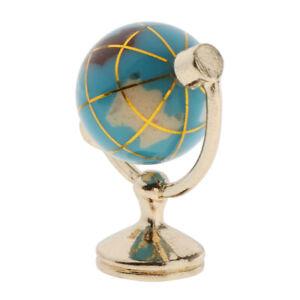 Puppenhaus-Miniaturmoebel-Im-Massstab-1-12-World-Earth-Globe-Light-Blue